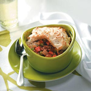 Biscuit-Topped Shepherd's Pies Recipe