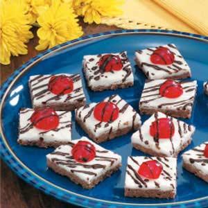 Cherry Cocoa Shortbread Squares Recipe