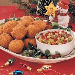 Turkey Croquettes with Cranberry Salsa Recipe