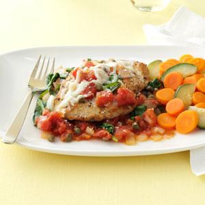 Chicken in Tomato-Caper Sauce Recipe