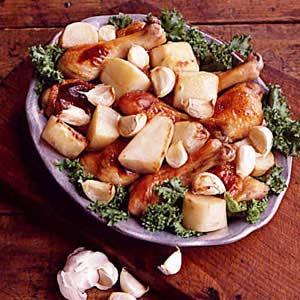 Garlic-Roasted Chicken Recipe