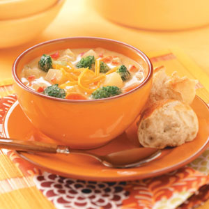 Cheesy Vegetable Chowder Recipe