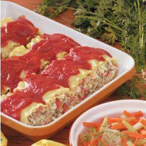 Crab Lasagna Roll-Ups Recipe