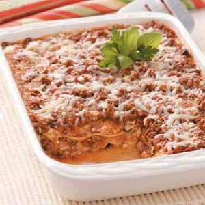Garden-Style Beef Lasagna Recipe