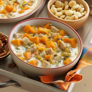 Turkey-Sweet Potato Soup Recipe