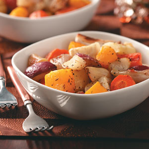 Garlic Roasted Winter Vegetables Recipe