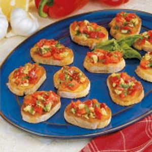 Red Pepper Bruschetta Recipe