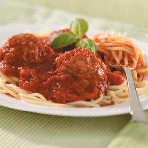 Spaghetti with Italian Meatballs Recipe