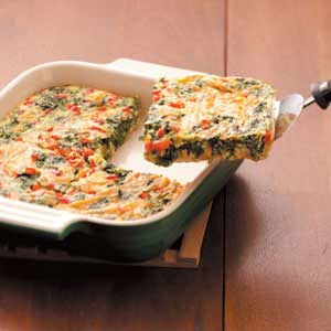 Spinach Cheddar Squares Recipe