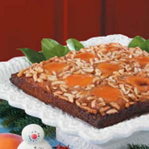 Apricot Almond Upside-Down Cake Recipe