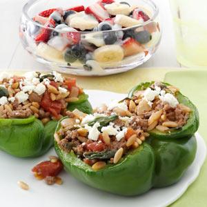 Feta Stuffed Peppers Recipe