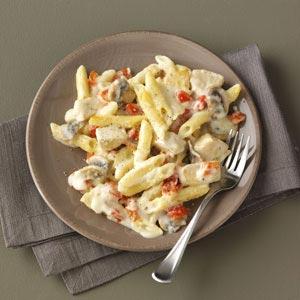 Three-Cheese & Pepper Penne Recipe
