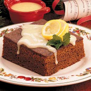 Gingerbread with Lemon Sauce Recipe