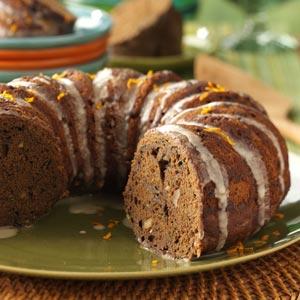 Zucchini Chocolate Cake with Orange Glaze Recipe