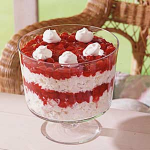 Heavenly Cherry Angel Food Trifle Recipe