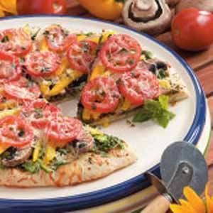 Pesto Vegetable Pizza Recipe