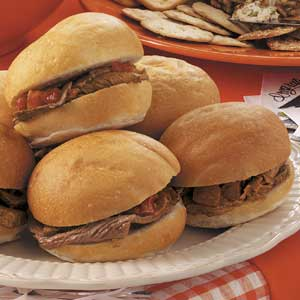 Hot Italian Roast Beef Sandwiches Recipe