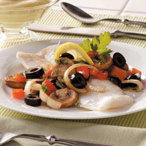 Baked Cod and Veggies Recipe