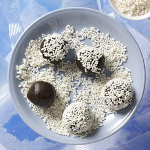 Crunchy Chocolate Mint Balls Recipe