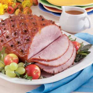 Sweet & Spicy Apricot-Glazed Ham Recipe