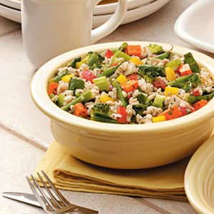 Lemony Vegetable Barley Salad Recipe