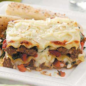 Spinach and Turkey Sausage Lasagna Recipe