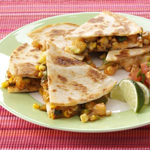 BBQ Shrimp Quesadillas Recipe