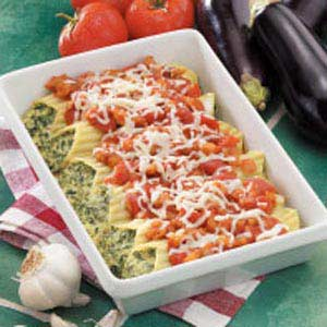 Manicotti with Eggplant Sauce Recipe