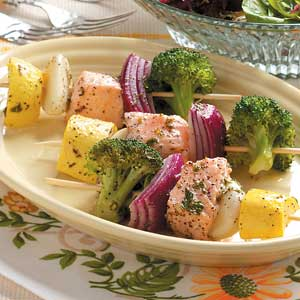 Steamed Salmon Kabobs Recipe