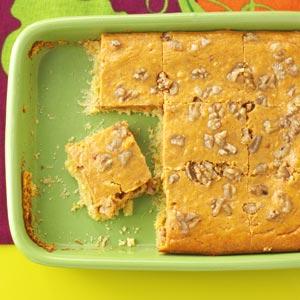Pumpkin Walnut Squares Recipe