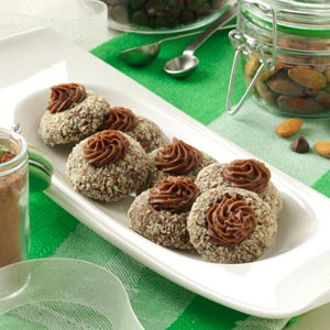 Chocolate-Almond Thumbprints Recipe