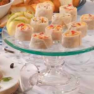 Hot Crab Pinwheels Recipe