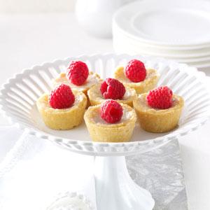 Raspberry Sugar Cream Tarts Recipe