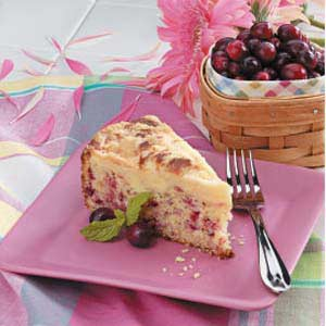 Creamy Cranberry Coffee Cake Recipe