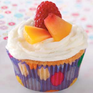 Raspberry Peach Cupcakes Recipe