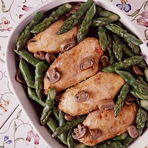 Asparagus, Chicken, Wild Rice Casserole Recipe