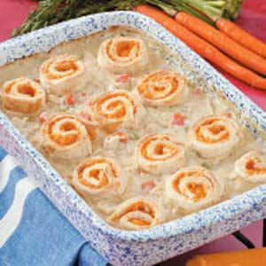 Chicken Pie in a Pan Recipe