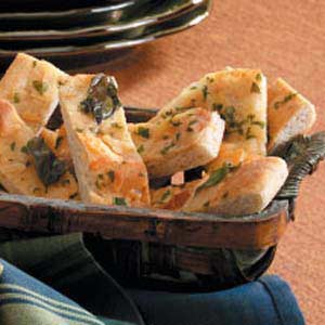 Basil-Cheese Bread Strips Recipe