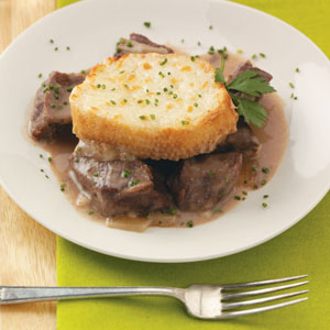 Beef Tips & Caramelized Onion Casserole Recipe
