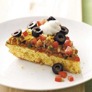 Mexican Corn Bread Pizza Recipe