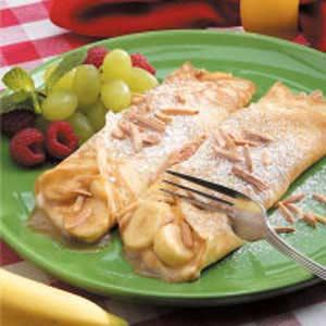 Creamy Banana Crepes Recipe