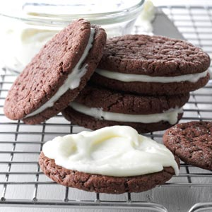 Peppermint Patty Sandwich Cookies Recipe