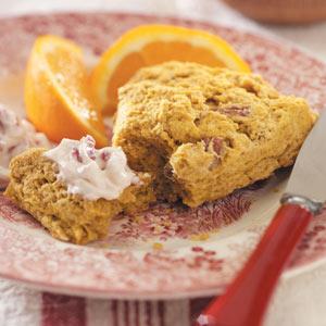 Pumpkin Scones with Berry Butter Recipe