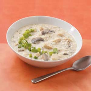 Chicken Wild Rice Soup with Mushrooms Recipe