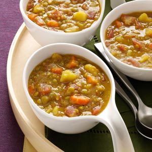 Spiced Split Pea Soup Recipe