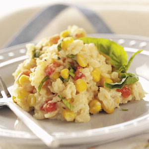 Tomato 'n' Corn Risotto Recipe