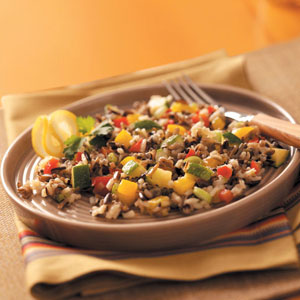 Sweet Pepper Wild Rice Salad Recipe