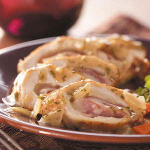 Swiss Chicken Rolls Recipe