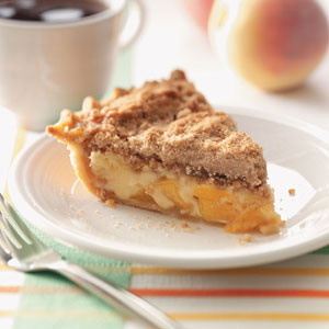 Sour Cream Peach Pecan Pie Recipe