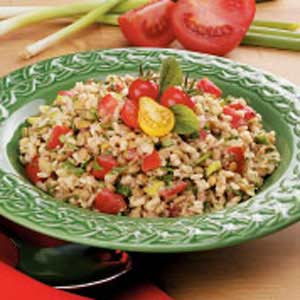 Brown Rice Lentil Salad Recipe